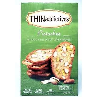 (現貨)Thinaddictives Pistachio Almond Thins Biscuits 開心果杏仁餅乾 0
