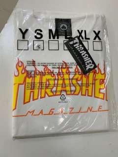 正版THRASHER火焰T 白色S號