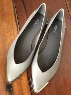 (PRICE REDUCED!!!) Melissa pointed toes grey flats