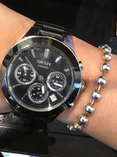 🚚 DKNY三眼陶瓷手錶