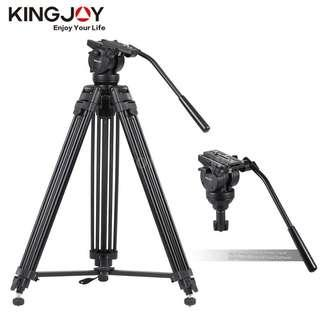 KINGJOY VT2500 Professional Heavy Duty Photo Studio Video Tripod with Fluid Video Head for DSLR Camera