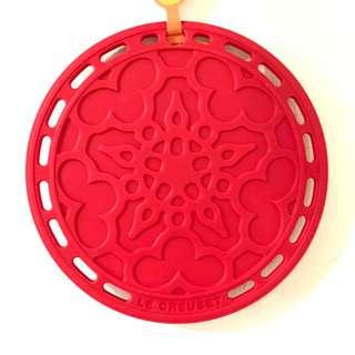 Le Creuset Red Silicon french trivet
