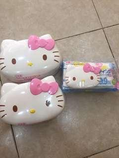 Hello Kitty Container wet tissue from Japan