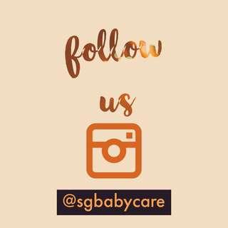 follow us on Instagram @sgbabycare