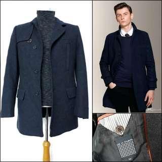 Men wool coat / men coat / long coat pria / coat wol cowok