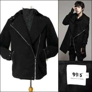 Unisex wool coat / men coat / long coat pria /coat wol cowok