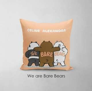 🚚 CUSTOM CUSHION COVER + MINKY we bare bears WBB