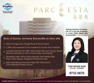Parc Esta opposite EW7 Eunos MRT Stn