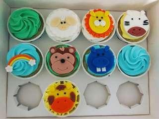 🚚 Zoo Animal Cupcakes