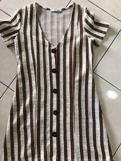 FREE POSTAGE Zara Stripe Button Down Dress