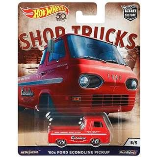 NEW Hot Wheels 60 Ford Econoline Pick Up Vehicle Shop Truck, Chevy Silverado Collector Diecast Car