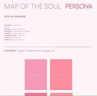 BTS MAP OF THE SOUL PERSONA ALBUM