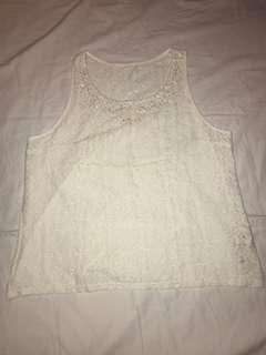 HOLLISTER LACE SLEEVELESS TOP