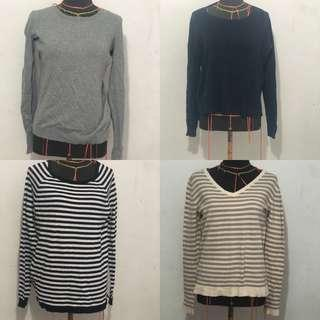 Lot of 4 Mango and H&M sweaters