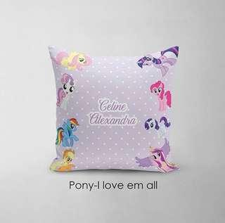 🚚 CUSTOM CUSHION COVER + MINKY my little pony