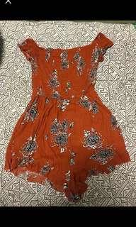 Ally Fashion Orange Playsuit - Size 10-12