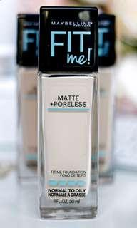 🚚 Maybelline Fit Me 110 porcelain matte + poreless foundation