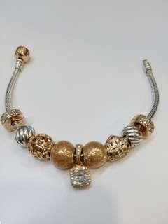 Pandora two tone bracelet (Size 17)