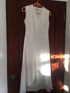 White Asymmetric Dress in S