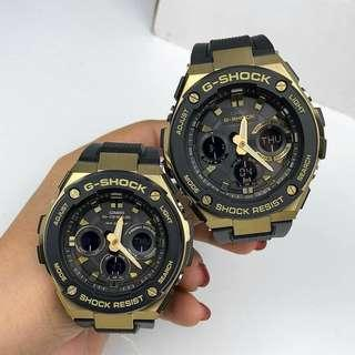 Couple Set Casio Gsteel Gshock Gold Series GSTS100G GSTS300G with FREE DELIVERY 📦 G-Shock