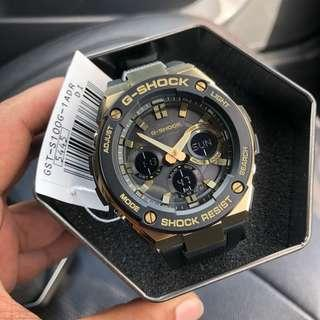 🔥🔥Gshock Steel Series GSTS100G Black Gold Tough Solar Gsteel with FREE DELIVERY 📦 G-Shock