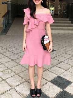 (xs) TEM Ruffles pink dress