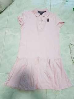 🚚 Brand new authentic pink Polo Ralph Lauren bear Dress ladies petite S (XL for 16-20 gals) very rare sweet
