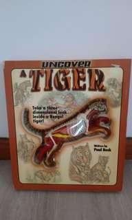 Educational book on Tiger with 3D model