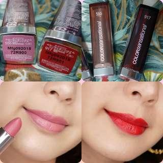 Maybelline唇膏🈹❌$99➡$48/2枝 Color Sensational LIP STAIN 555 917