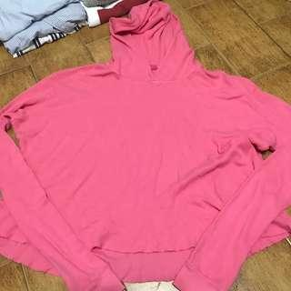 🚚 SALE: BN Brandy Melville hot pink Lennon thermal hoodie sweater