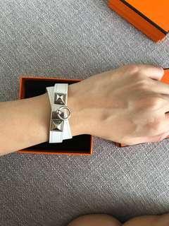 Hermes Rivale bracelet white size xs/s KDT Kelly double tour