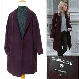 Korean wool coat / long coat / winter coat / spring coat / autumn coat / outerwear / coat wol / coat korea / coat panjang / outer panjang