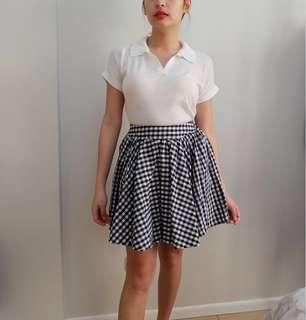 Checkered Mini Skirt