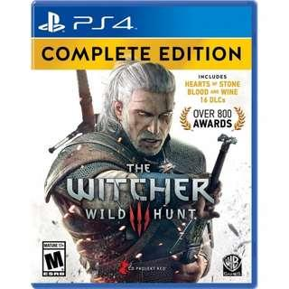 PS4 The Witcher 3: Wild Hunt Complete Edition R ALL (USED)