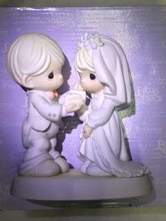 (全新)precious moments 結婚陶瓷公仔
