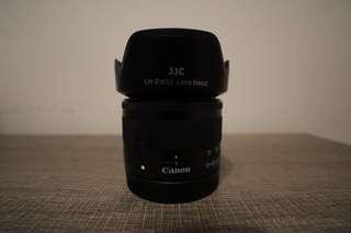 Canon EOS M 15-45 STM Lens 鏡頭 (連JJC Lens Hood遮光罩 及 Kenko filter濾鏡)