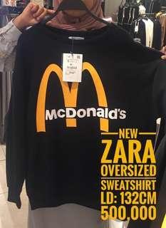 ZARA x McD oversized sweatshirt