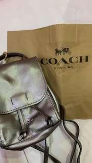 Coach derby backpack platinum