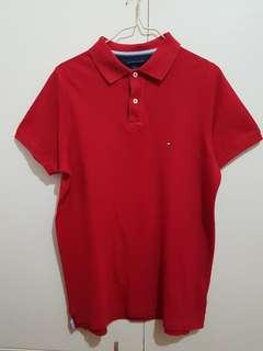 Authentic Tommy Hilfiger poloshirt red