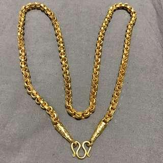 Micron Gold Brass Chain Necklace