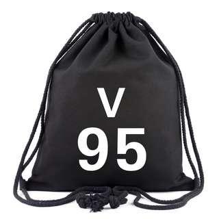 🚚 bts v drawstring bag