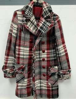 🚚 MNG Gorgeous Plaid Checkered Winter Jacket Sz S. #MRTRaffles