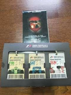🚚 2009 Formula 1 tickets and pamphlet