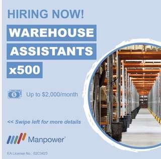 X500 Warehouse Assistant needed