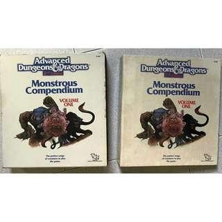 Advanced Dungeons and Dragons Monstrous Compendium Vol Volume 1 And 2 Ad Tsr Ring Bound