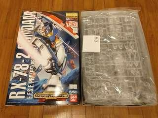 Gundam RX-78-2 30th Anniversary limted edition with Clear Parts MG