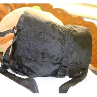 Large Black Messenger Bag
