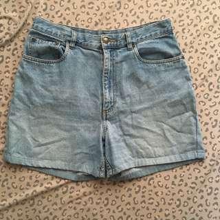 Waist 34 high waist denim shorts