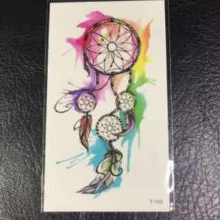 47489943f85c2 Watercolour Dreamcatcher Feminine Minimalist Temporary Tattoo Sticker II
