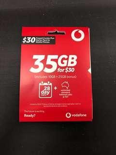 35GB Vodafone Australia SIM Mobile Starter Kit Card 4G 3G Data Roam Prepaid